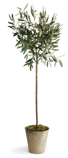 artificial olive tree in pot 46 transitional. Black Bedroom Furniture Sets. Home Design Ideas