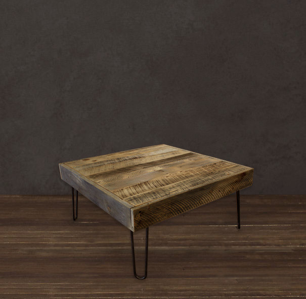 Reclaimed wood square coffee table modern coffee tables denver by jw atlas wood co Wood square coffee tables