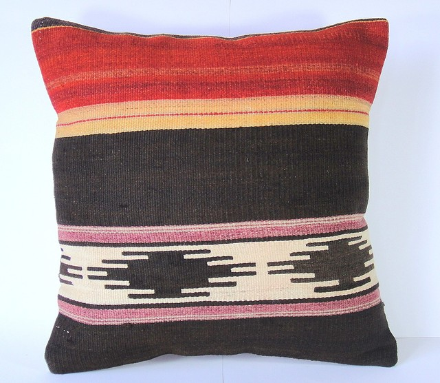 Modern Kilim Pillows : Antique Turkish Kilim Pillow Cover by Pearly Notes - Modern - Decorative Pillows - by Etsy