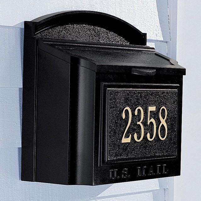 Wall Mailbox and Address Marker - Traditional - Mailboxes ...