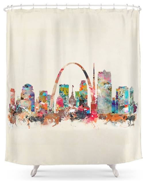 Society6 St Louis Missouri Shower Curtain Shower Curtains By Society6