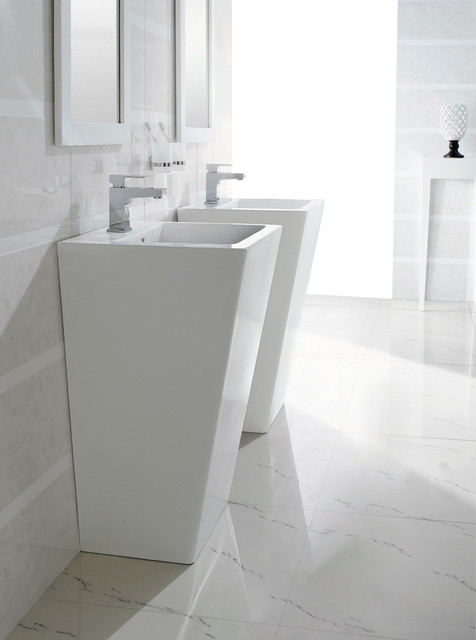 Bresica Modern Bathroom Pedestal Sink Bathroom Sinks Dallas By The In