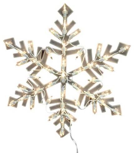 Lighted snowflake christmas window silhouette decoration for 16 lighted snowflake christmas window silhouette decoration