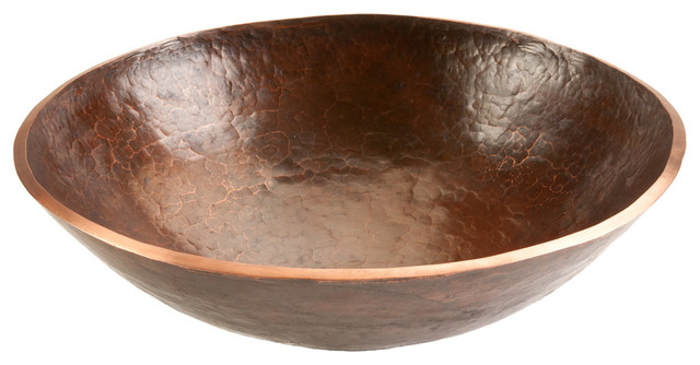 Forged Old World Copper Vessel Sink 16 Rustic Bathroom Sinks