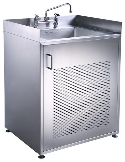 Pearlhaus Single Door Stainless Steel Sink With Cabinet - Industrial - Bathroom Vanities And ...