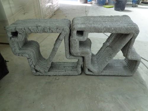 Trave in cemento realizzata con stampa 3D