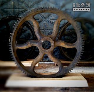 Antique Industrial Gear Decor Industrial Artwork Los