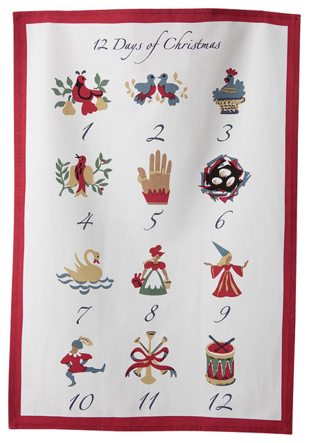 12 days of christmas towels set of 3 contemporary for 12 days of christmas table cloth