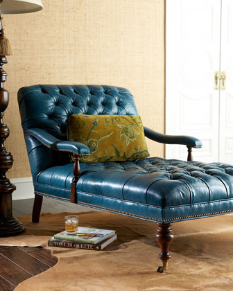 Madeline chaise traditional by horchow for Cameron tufted chaise peacock