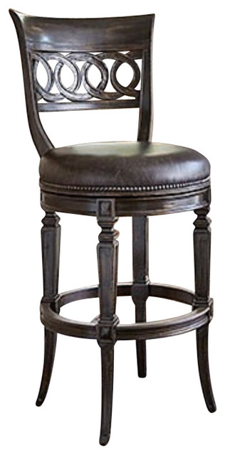 Ambella Home Collection Rochelle Armless Swivel Barstool