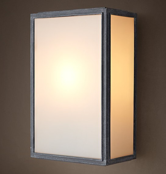3 Light Wall Sconce Bronze : LOFT Light Box Wall Sconce - Rustic - Wall Sconces - new orleans - by PHX LIGHTING