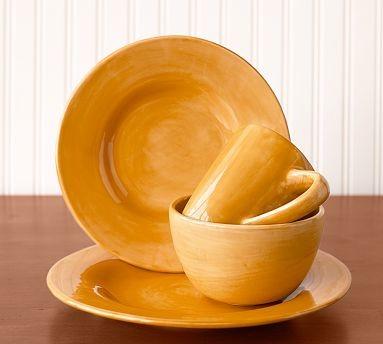 Sausalito Dinner Plate Set Of 4 Amber Traditional