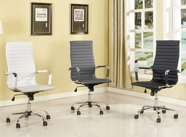 Furniture Of America Kimmel Ribbed High Back Office Chair Contemporary Office Chairs By