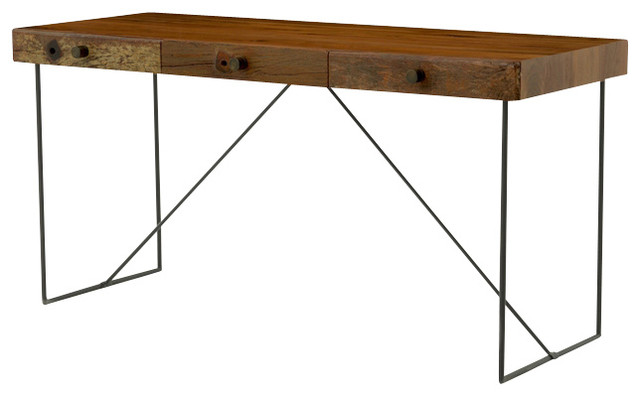 Four Hands Wright Desk - Rustic - Desks And Hutches - by Seldens Furniture