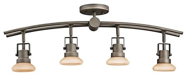Kichler structures 4 light track lighting in olde bronze for Kitchen island track lighting