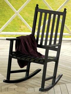 Euclyptus rocker chair in black klassisch for Schaukelstuhl essen
