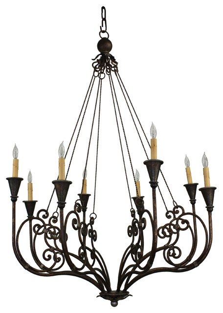 Ch 014 Hand Made Iron Chandelier Mediterranean