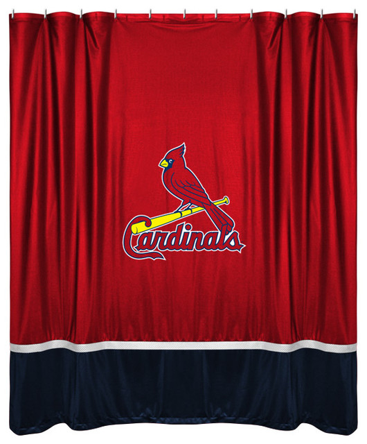 Sidelines Shower Curtain Cardinals Shower Curtains By