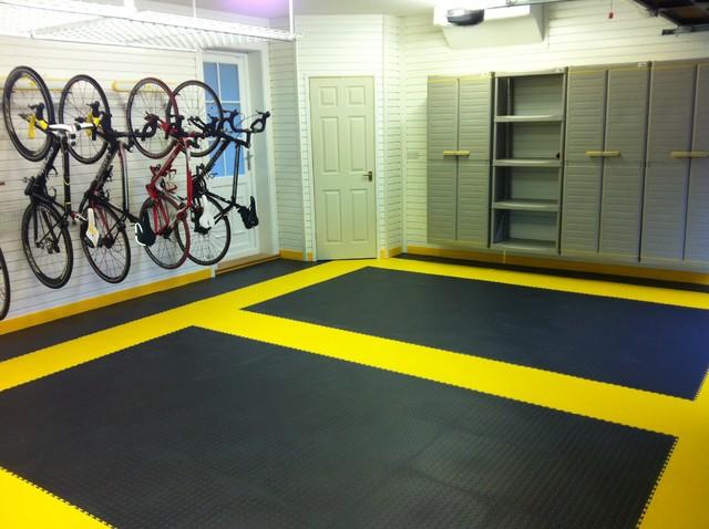 Garage Flooring A Great Case Study Modern wall and floor