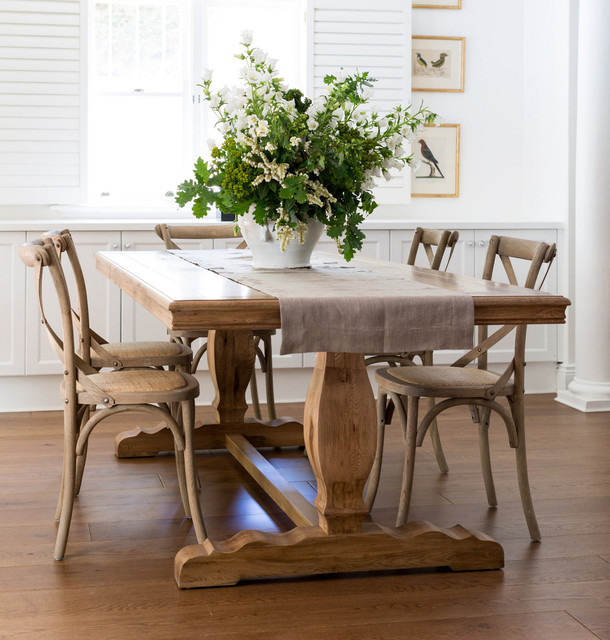 French Farmhouse Dining Table Traditional Dining Tables Sydney By Lav