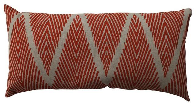 Modern Bolster Pillows : Bali Bolster Throw Pillow, Mandarin - Contemporary - Decorative Pillows - by Pillow Perfect Inc