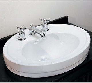 Porcher Archive Above Counter Basin - Bathroom Sinks - new york - by Quality Bath