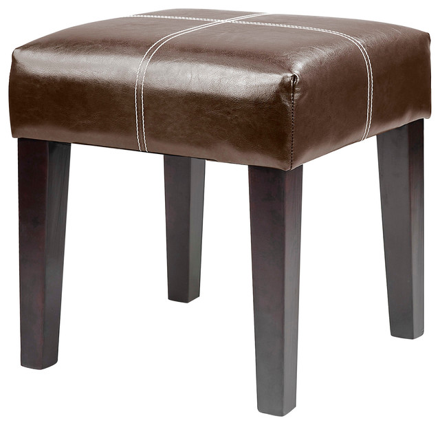 Antonio 16 Bench Dark Brown Bonded Leather Transitional Accent And Storage Benches By