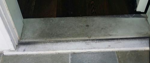 Finishing exterior front door threshold - Replace threshold prehung exterior door ...