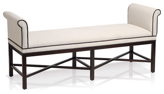 Kelly Rolled Arm Bench Contemporary Indoor Benches Toronto By Jane Lockhart Interior Design