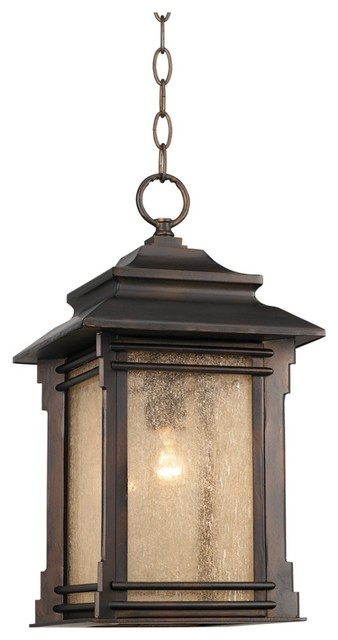 franklin iron works hickory point hanging outdoor light asian outdoor. Black Bedroom Furniture Sets. Home Design Ideas