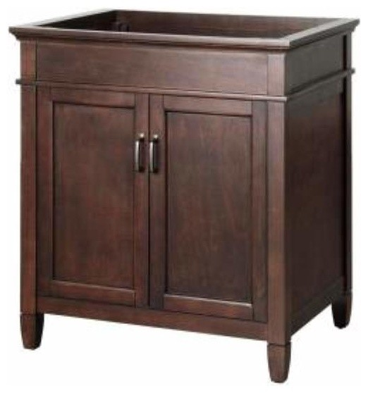 Foremost Ashburn 30 Inch Vanity Cabinet In Mahogany Finish Mahogany Oil Rubbed Traditional