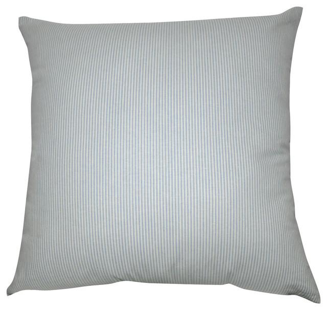 Light blue stripe decorative pillow 20quotx20quotx67 for Light blue throw pillows