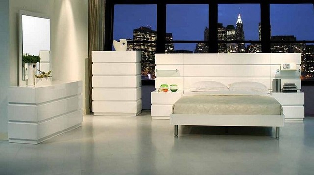sophia modern white platform bedroom set traditional
