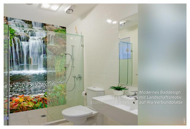 Paneele Für Bad : bedruckte dibond paneele im bad ~ Frokenaadalensverden.com Haus und Dekorationen