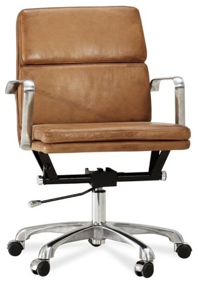 Nash Leather Swivel Desk Chair Modern fice Chairs