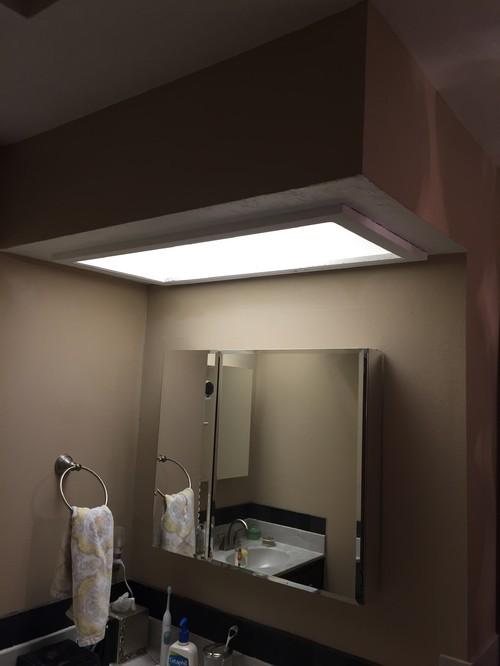 Bathroom Soffits And Light Fixture Dilemma
