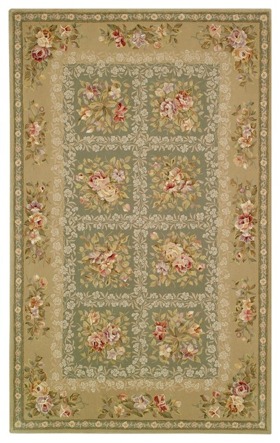 French Tapis Green Yellow Area Rug Ft211a 2 3 Quot X 8