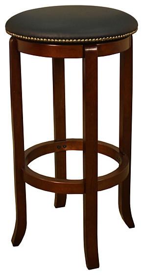 lewisville 24 inch walnut swivel counter stool