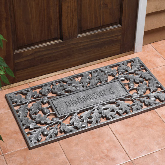 Oak Amp Acorn Personalized Door Mat Traditional Home