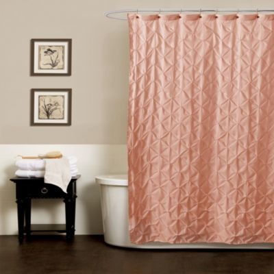 noelle pintuck shower curtains in peach contemporary
