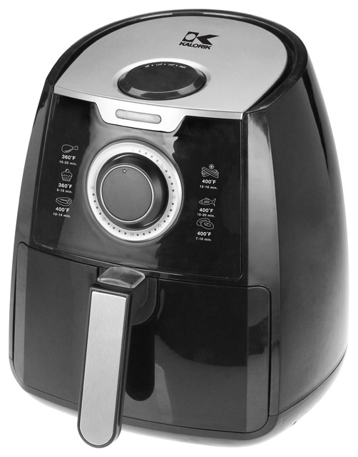 Kalorik black airfryer with dual layer rack contemporary Modern home air fryer