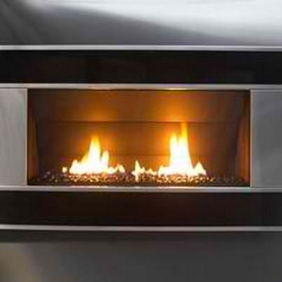 escea indoor gas black granite fireplace verta front