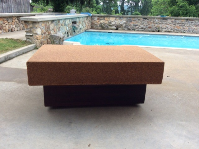 Suberra Cork And Reclaimed Old Growth Redwood Coffee Table Modern Coffee Tables
