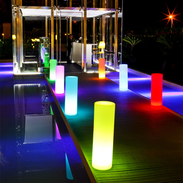 Tower outdoor portable led lamp smart green modern outdoor lighting other by - Exterior led lights for homes ...