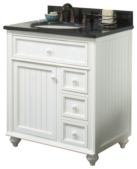 Nautical Style Bathroom Vanities: Cottage Retreat Vanity, Antique White