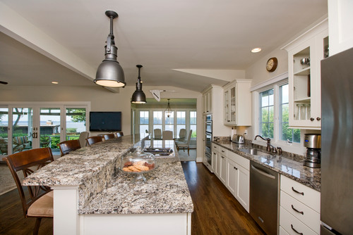 Alaska White Granite White Cabinets Backsplash Ideas