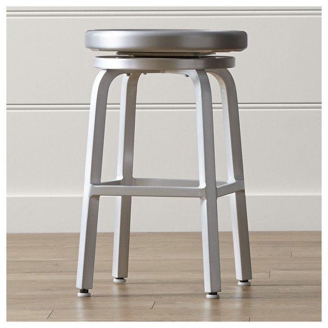 Spin Swivel Backless Counter Stool Contemporary Kids Step