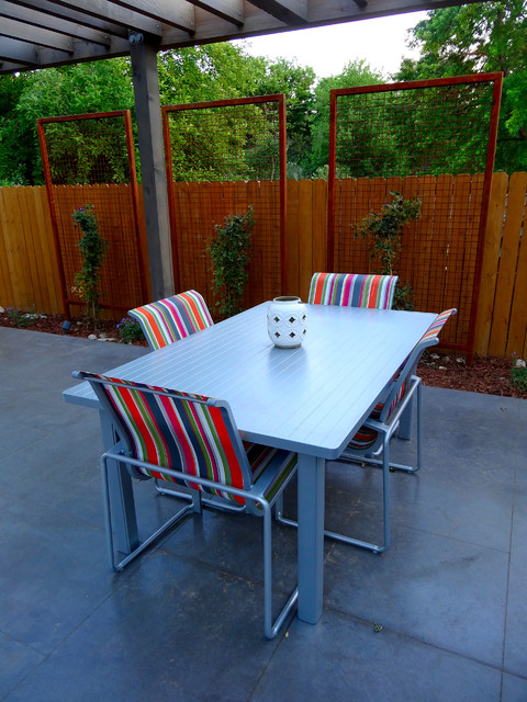 Contemporary Patio Furniture And Custom Metal Trellis Modern Denver By Mile High Landscaping