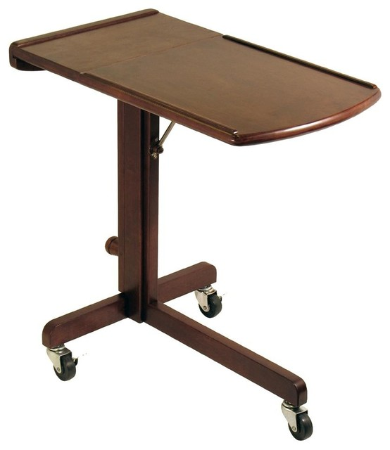 Laptop Cart w Adjustable Tray & Castered Base - Contemporary - Office Carts And Stands - by ...