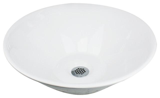 nantucket sinks round low-profile vessel sink - bathroom